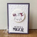 Magical Day Unicorn Card Stampin