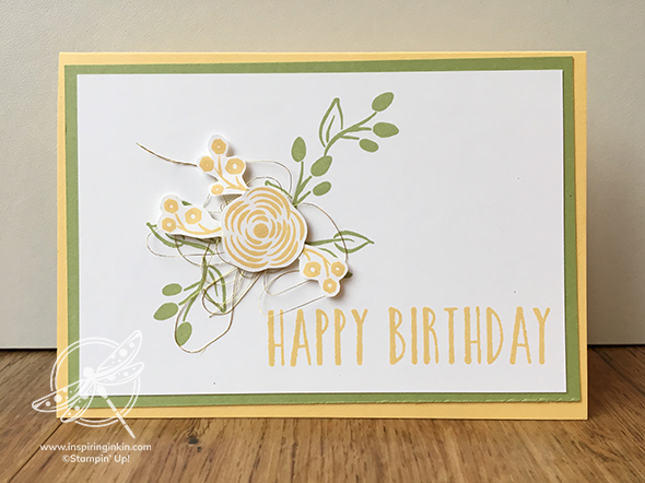 Perennial Birthday card Stampin' Up! UK Amanda Fowler Inspiring Inkin'