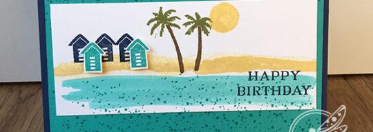 Waterfront Birthday Card Stampin' Up! UK Inspiring Inkin Amanda Fowler