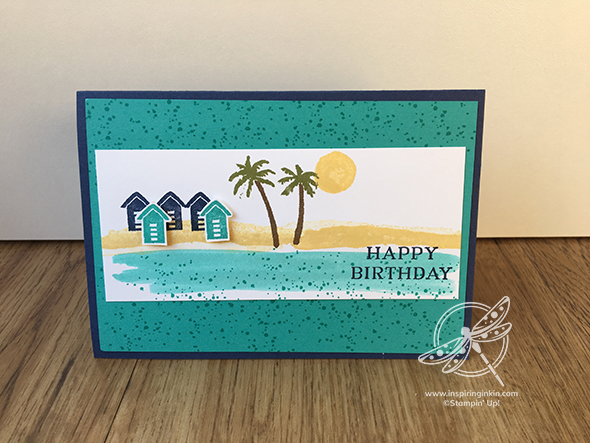 Waterfront Birthday Card Stampin' Up! UK Inspiring Inkin Amanda Fowler