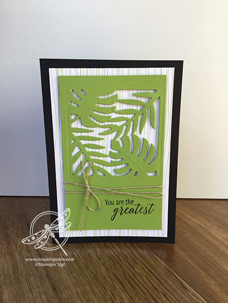 Tropical Treat Card Stampin' Up! UK Amanda Fowler Inspiring Inkin
