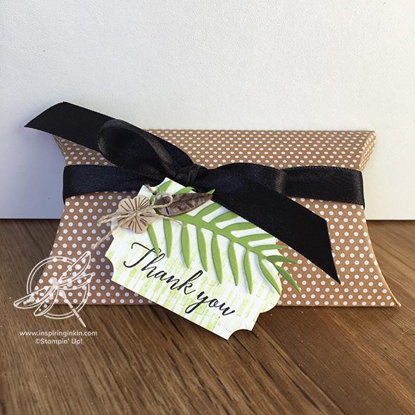 Tropical Pillow Box Stampin' Up! UK Inspiring Inkin' Amanda Fowler