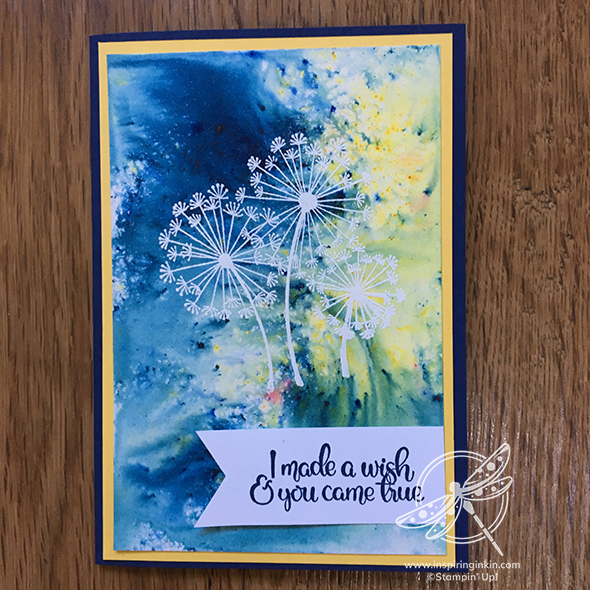 Dandelions Wishes Stampin Up Incentive trip Inspiring Inkin' Amanda Fowler