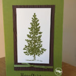 Lovely as a Tree Christmas Card Stampin