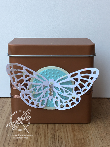 Copper Tea Tin Stampin' Up! UK Inspiring Inkin' Amanda fowler