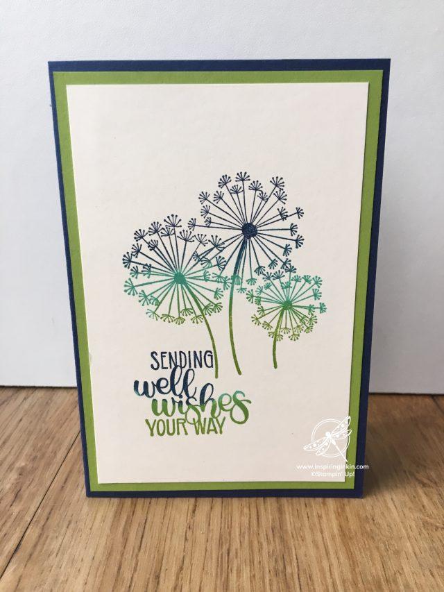 Rainbow Stamping Dandelion Wishes Stampin' Up! UK Inspiring Inkin' Amanda Fowler