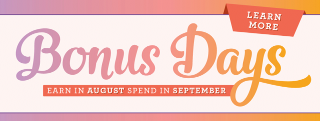 Bonus Days vouchers Stampin' Up! Uk Amanda Fowler Inspiring Inkin' August Special Offers