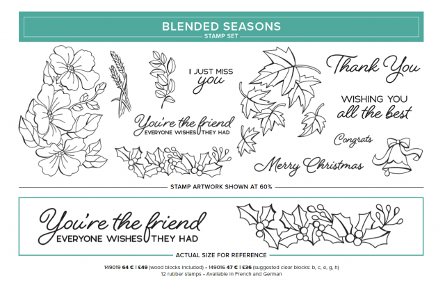 Colour your Season Stampin' Up! UK Inspiring Inkin' Amanda Fowler August Special Offers