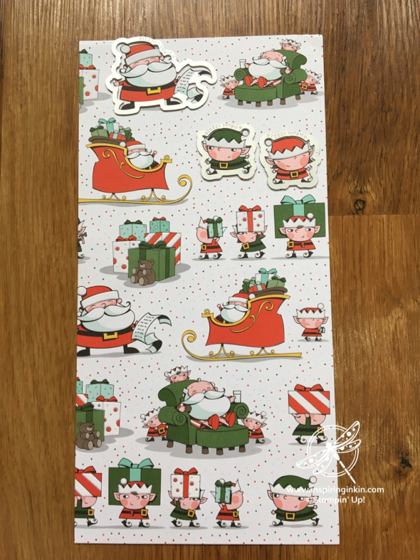 Signs of Santa Stampin' Up! UK Inspiring Inkin' Amanda fowler Christmas card - 1