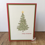 Cross-stitched Christmas Card Stampin
