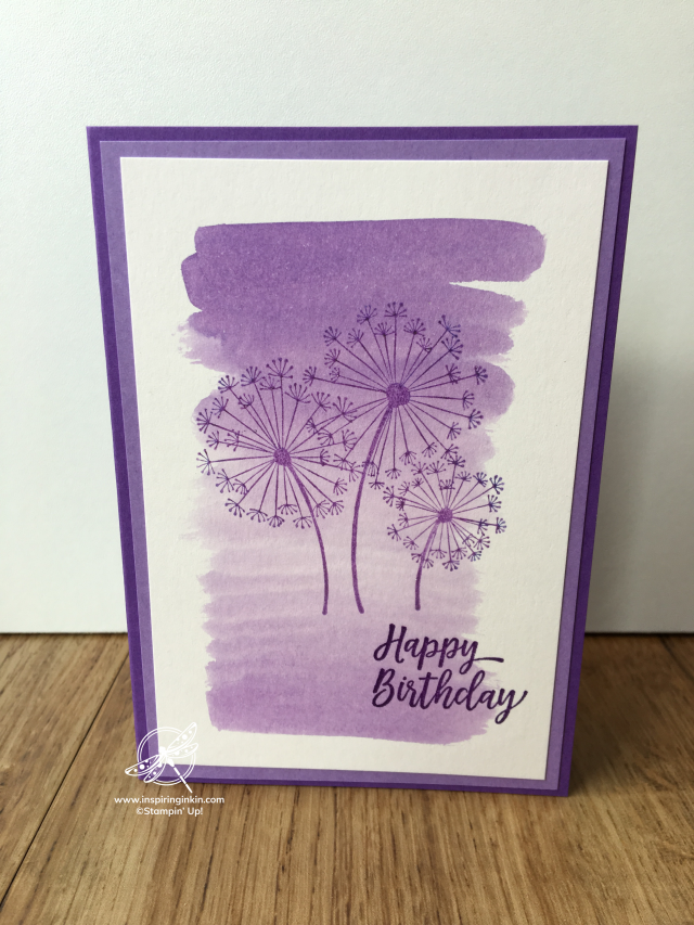 Shimmer paint Techniques Inspiring Inkin' Amanda Fowler Stampin' Up! UK