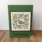 Feathers & Frost Christmas Card Amanda Fowler Inspiring Inkin