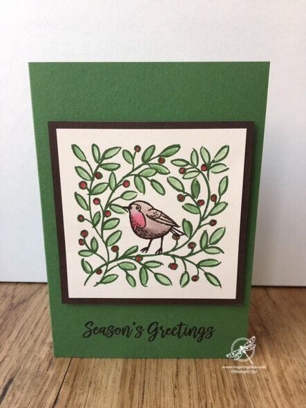 Feathers & Frost Christmas Card Amanda Fowler Inspiring Inkin' Stampin' Up! UK