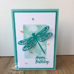 Dragonfly Dreams Bokeh Dots Card Amanda fowler Inspiring Inkin