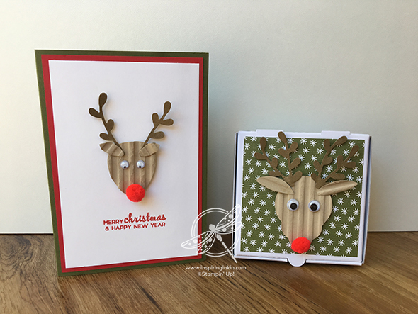 Rudolph Card and Pizza Box Stampin' Up! Uk Inspiring inkin' Amanda Fowler