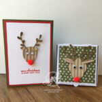Rudolph Card and Pizza Box Stampin