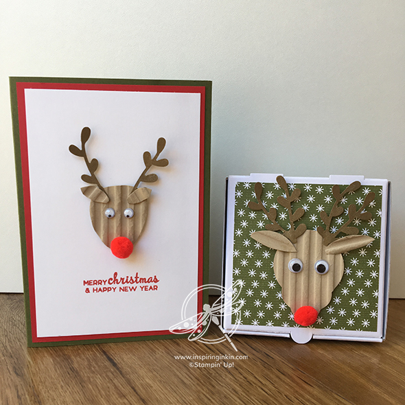 Rudolph Card and Pizza Box Video