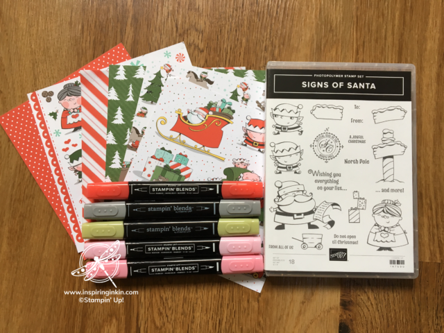 Signs of Santa Online Class Stampin' Up! Uk Inspiring Inkin' Amanda Fowler