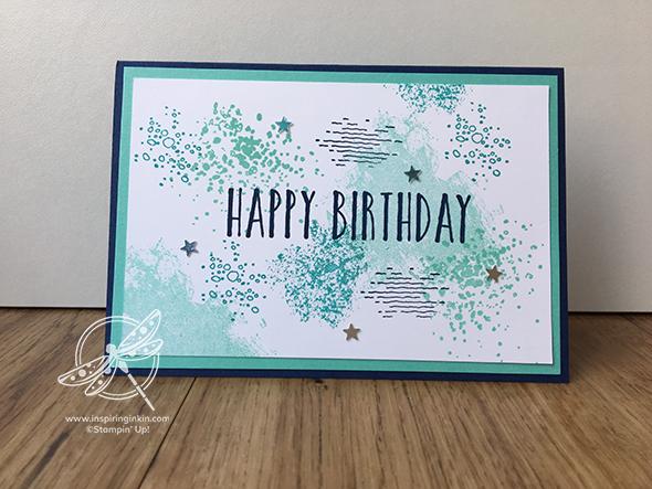 Artisan textures Stampin' Up! UK Amanda Fowler Inspiring Inkin Perennial Birthday