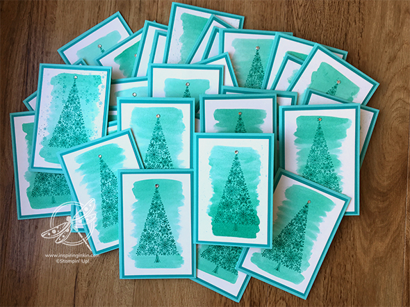 Snow is Glistening Christmas Card Stampin' Up! Uk Amanda Fowler Inspiring Inkin'