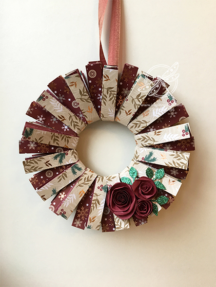 Joyous Noel Wreath Stampin' Up! UK Inspiring Inkin' Amanda Fowler