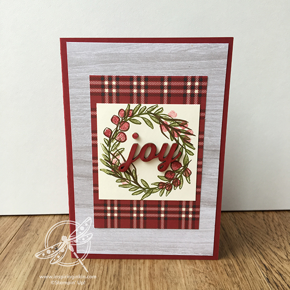 Festive Farmhouse Joy Christmas card