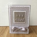 Silver Noel Card Stampin