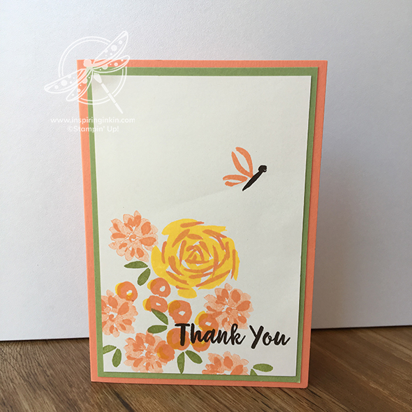 Abstract Impressions Thank you Card