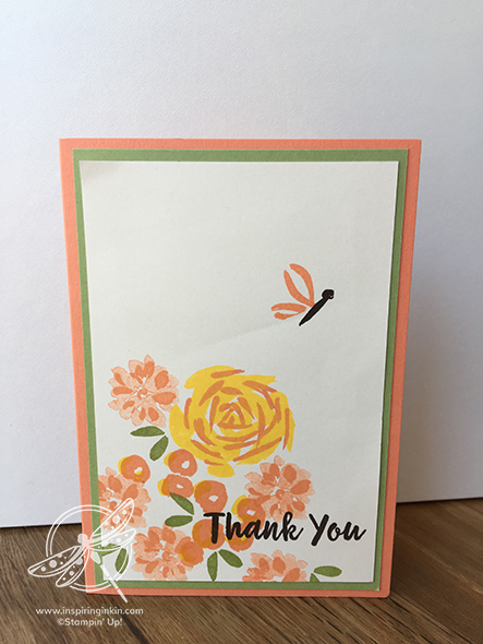 Abstract Impressions Thank you Card Amanda Fowler Inspiring Inkin' Stampin' Up! UK