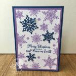 Snowflake Christmas Card Stampin
