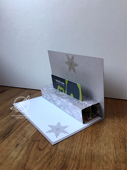 Pop Up Gift Card Holder Amanda Fowler Inspiring Inkin' Stampin' Up! UK