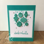 Beautiful Baubles Christmas Card Stampin