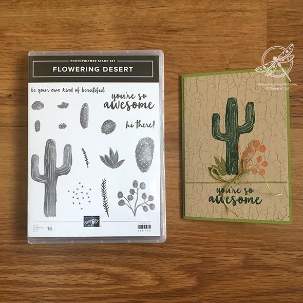 Flowering Desert Cactus Card Amanda Fowler Inspiring inkin' Stampin' Up! UK