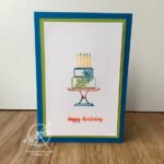 Rainbow Cake Card Stampin