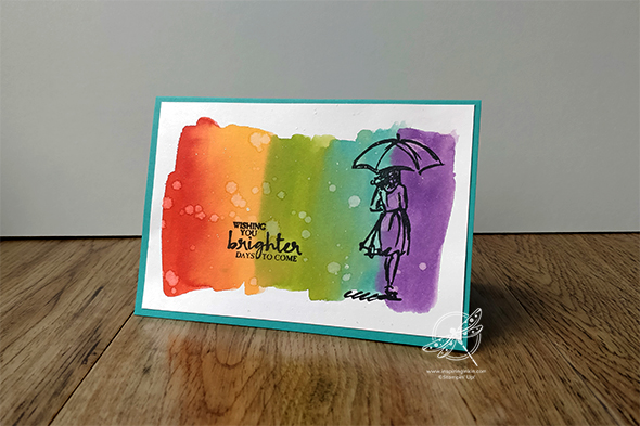 Rainbow Water Colour Wash Video Amanda Fowler Inspiring Inkin' Stampin' Up! UK