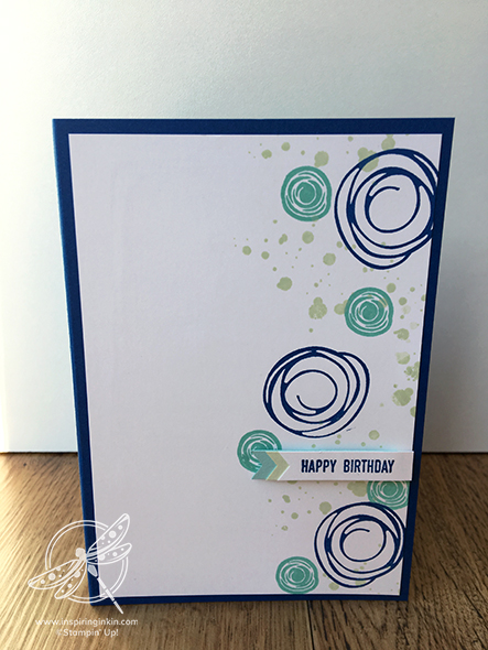 Swirly Bird Birthday Card Stampin' Up! Uk Inspiring Inkin' Amanda Fowler