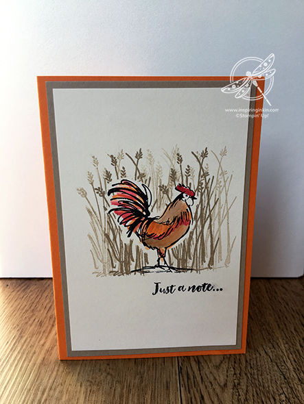 Home to Roost Note Card Card Stampin' Up! Uk Inspiring Inkin' Amanda Fowler