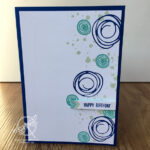 Swirly Bird Birthday Card Stampin