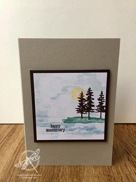 Waterfront Card Stampin' Up! UK Inspiring Inkin' Amanda Fowler
