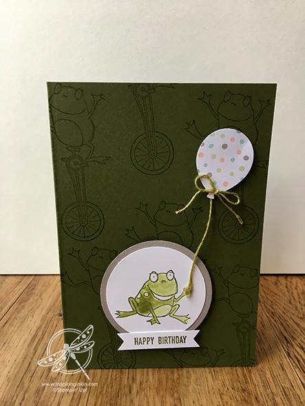 Birthday Frog Card Stampin' Up! Uk Amanda Fowler Inspiring Inkin'
