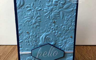 Hello, Country Floral Embossing Folder