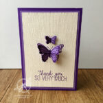 Butterfly Duet Thank you Card Stampin