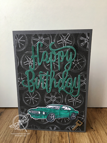Geared Up Garage Card Amanda Fowler Inspiring Inkin' Stampin' Up! UK