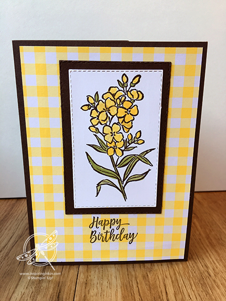 Southern Serenade Box Frame Card Amanda Fowler Inspiring Inkin' Stampin' Up! UK