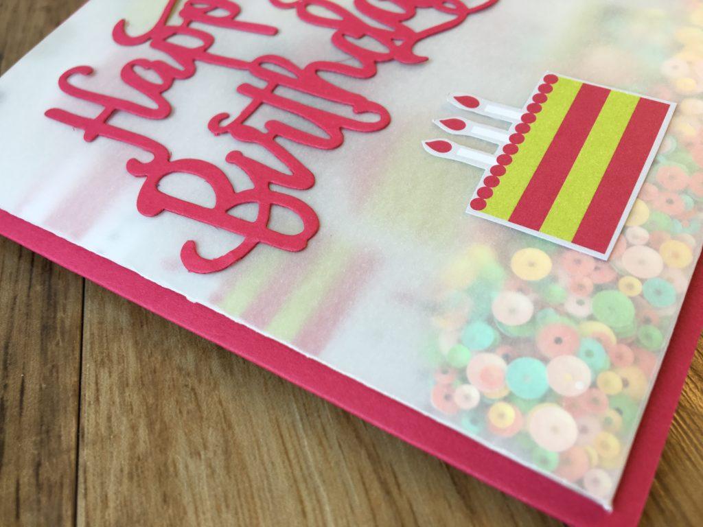 Flat Vellum Shaker Card Video Amanda Fowler Inspiring Inkin' Stampin' Up! UK