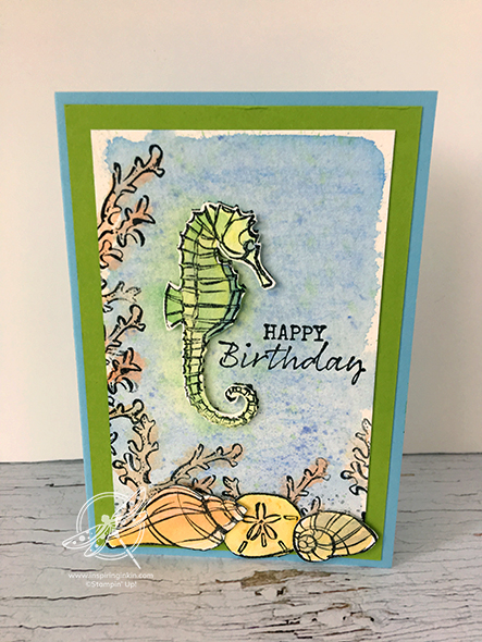 Seaside Notions Birthday card Stampin' Up! Uk Amanda Fowler Inspiring Inkin'