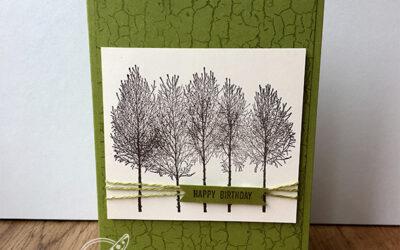 Winter Woods Birthday Card