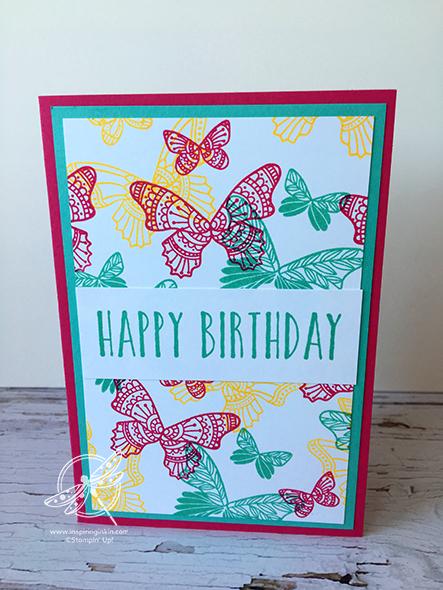Butterfly Gala Card Stampin' Up! Uk Amanda Fowler Inspiring Inkin'
