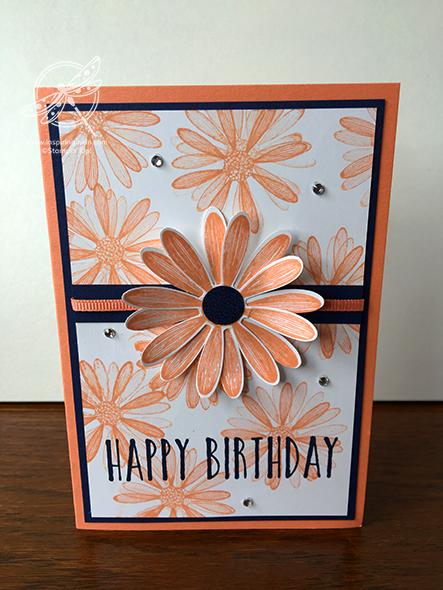 Daisy Card Stampin' Up! Uk Inspiring Inkin' Amanda Fowler