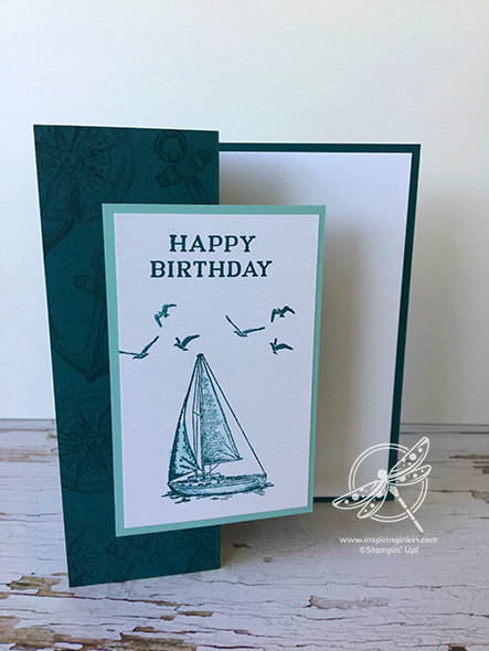Sailing Home Birthday card Stampin' Up! UK Amanda Fowler Inspiring Inkin'